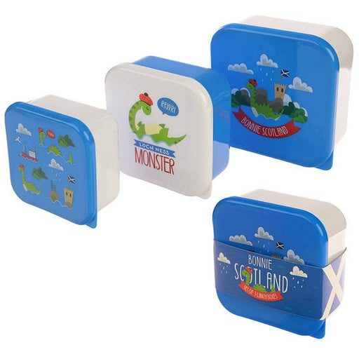 Fun Nessie Design Set of 3 Plastic Lunch Boxes - Simply Utopia
