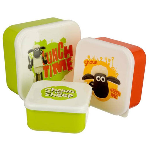 Fun Shaun The Sheep Set of 3 Plastic Lunch Boxes - Simply Utopia