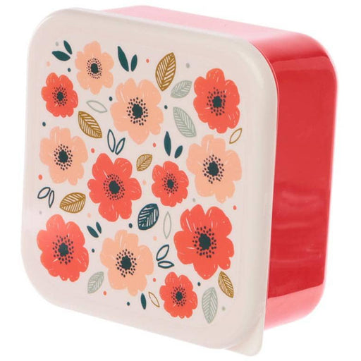 Poppy Fields Set of 3 Plastic Lunch Boxes (M/L/XL) - Simply Utopia