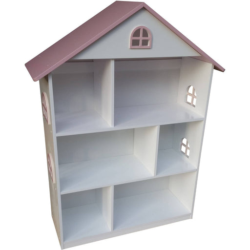 White Dollhouse Bookcase with Pink Roof - Simply Utopia