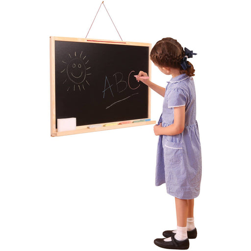 Wall Hanging 2 Sided Whiteboard And Chalkboard - Simply Utopia