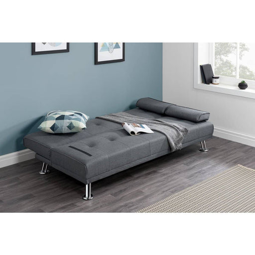 Logan Fabric Sofa Bed Grey - Simply Utopia
