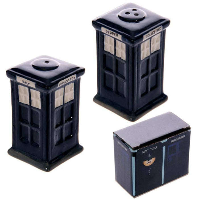 Novelty Ceramic Police Box Salt and Pepper Set - Simply Utopia