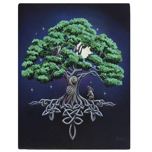Tree Of Life Canvas Plaque by Lisa Parker 19x25cm - Simply Utopia