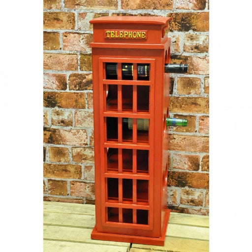 Wooden Telephone Box Wine Rack 77cm - Simply Utopia