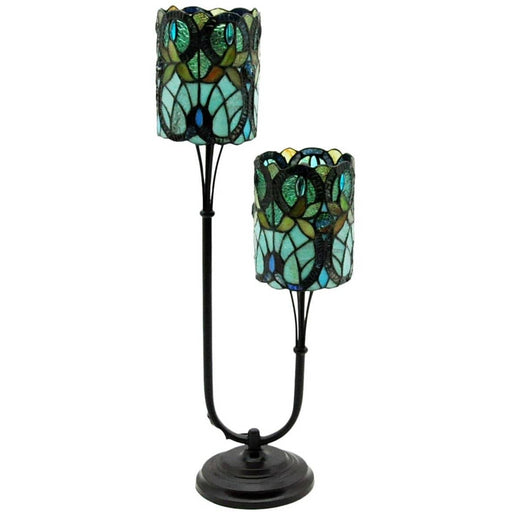 Twin Stem Tiffany Lamp - 72cm - Simply Utopia