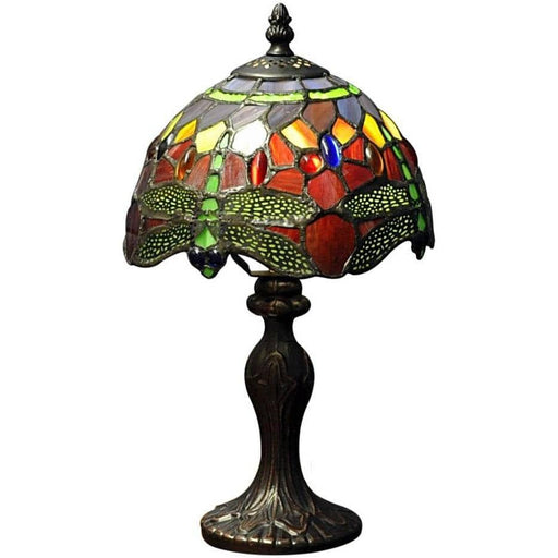 Red Dragonfly Tiffany Lamp - Simply Utopia