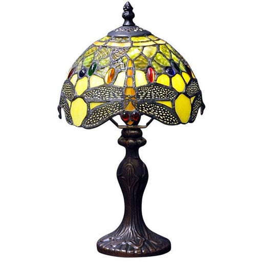 Green Dragonfly Tiffany Lamp - Simply Utopia