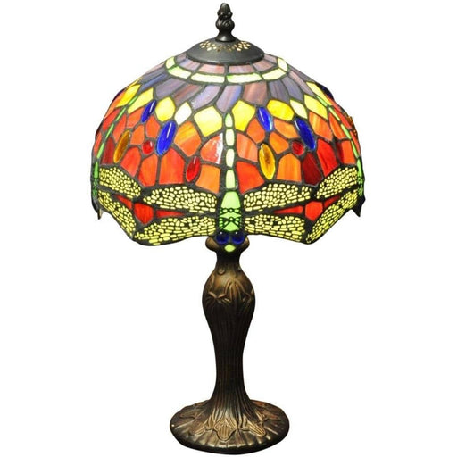 "Red Dragonfly Tiffany Lamp 10"" - Simply Utopia"