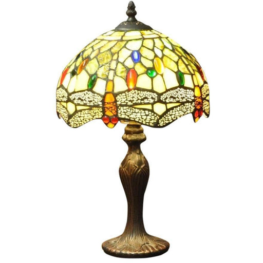 "Green Dragonfly Tiffany Lamp 10"" - Simply Utopia"