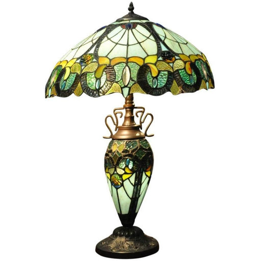 Multi Colour Double Tiffany Lamp - Simply Utopia
