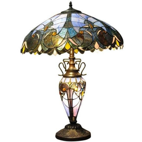 Blue Double Tiffany Lamp 68cm - Simply Utopia