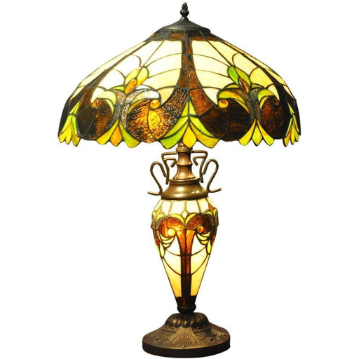 Multicoloured Double Tiffany Lamp 68cm - Simply Utopia