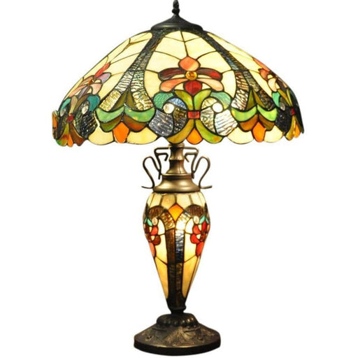 Yellow Double Tiffany Lamp 68cm - Simply Utopia