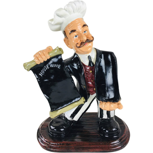 Resin Chef Wine Holder 45x33x20cm - Simply Utopia