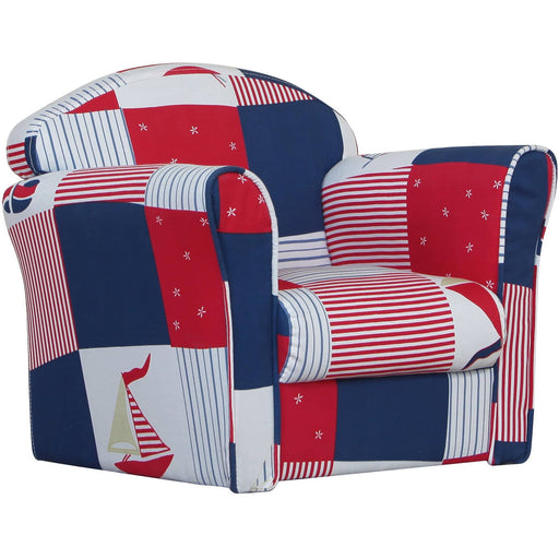 Mini Armchair Blue Patchwork - Simply Utopia