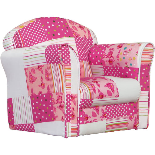 Mini Armchair Pink Patchwork - Simply Utopia