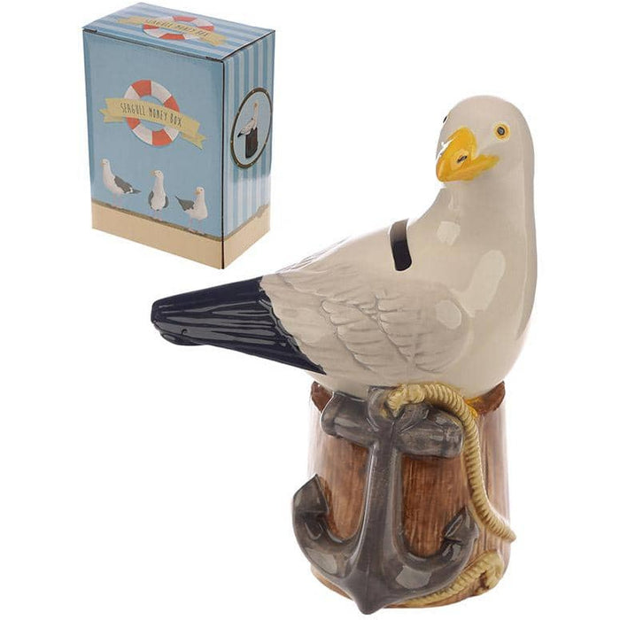 Collectable Ceramic Seagull Shaped Money Box - Simply Utopia