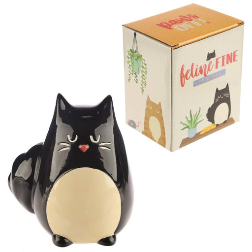 Collectable Ceramic Black Cat Shaped Money Box - Simply Utopia