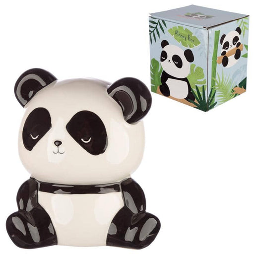 Collectable Ceramic Panda Shaped Money Box - Simply Utopia