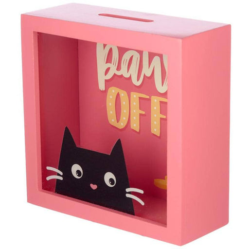 See Your Savings Money Box - Feline Fine Cat Design - Simply Utopia