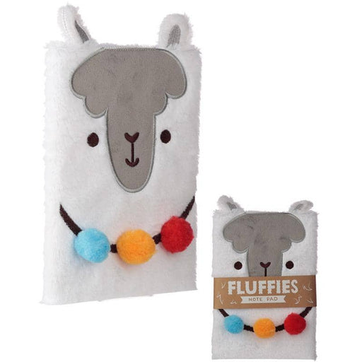 Fluffy Plush Notebook - Llama Design - Simply Utopia