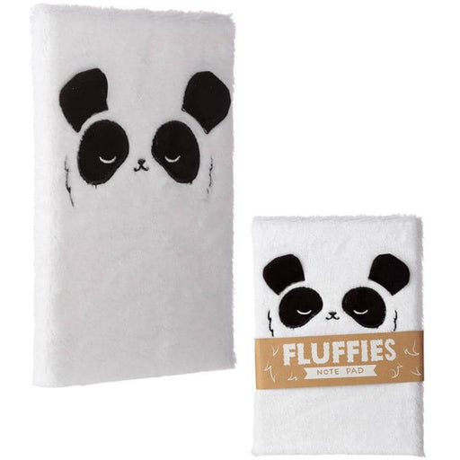 Fluffy Plush Notebook - Panda Design - Simply Utopia