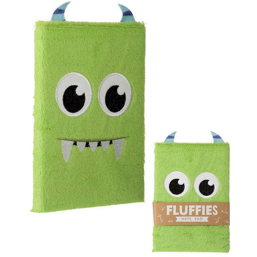 Fluffy Plush Notebook - Monster Design - Simply Utopia