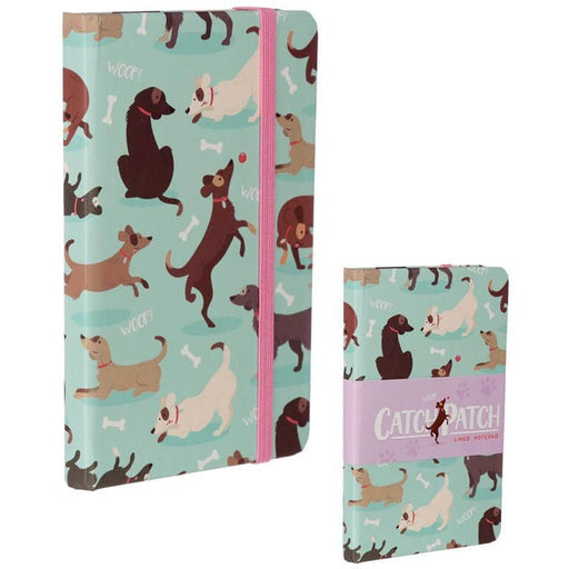 Collectable Hardback Notebook - Catch Patch Dog Design - Simply Utopia