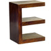 Toko Contemporary Dark Mango 'E' Shaped Display Unit - Simply Utopia