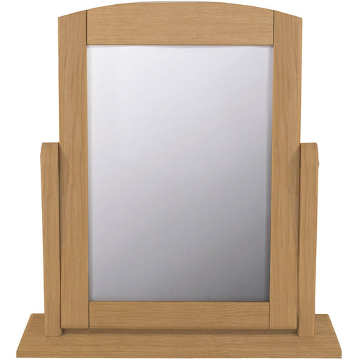 Dressing Table single mirror, oak finish (requires assembly) - Simply Utopia