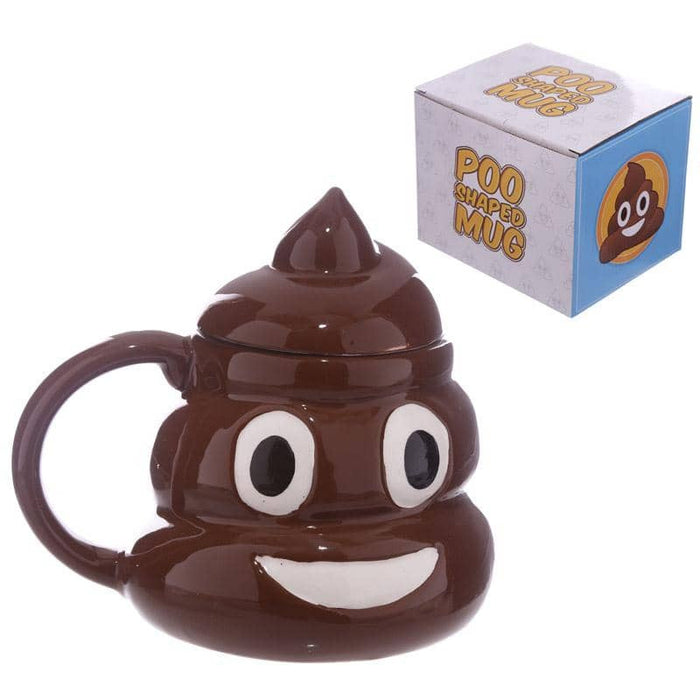 Fun Collectable Ceramic Poop with Lid Emotive Mug - Simply Utopia