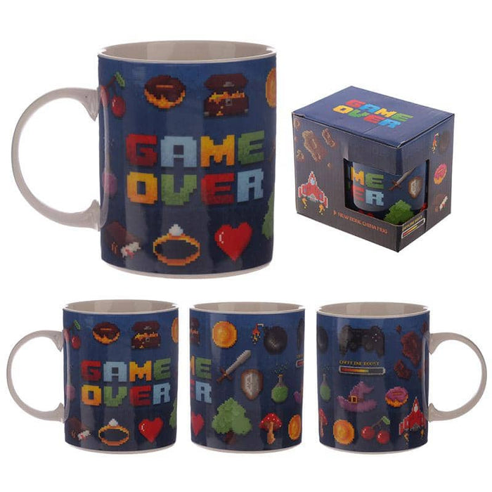 Collectable Porcelain Mug - Game Over Design - Simply Utopia