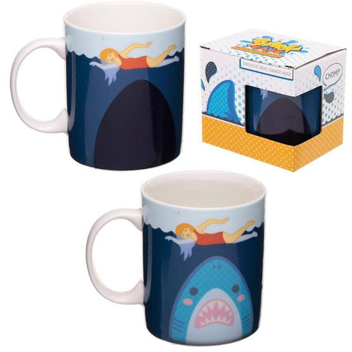 Heat Colour Changing Porcelain Mug - Shark Cafe - Simply Utopia