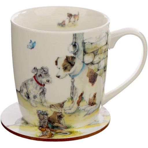 Porcelain Mug and Coaster Gift Set - Jan Pashley Dogs - Simply Utopia