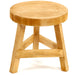 Plain Wood Three Legged Stool Standing at 23cm High - Simply Utopia
