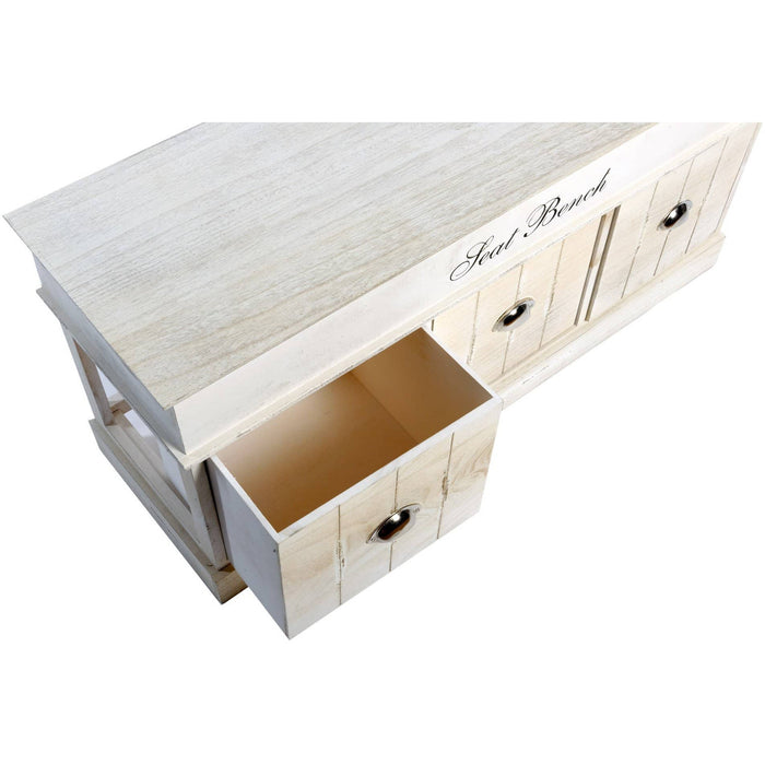 Three Drawer Seat Bench 104x34.5x51cm - Simply Utopia