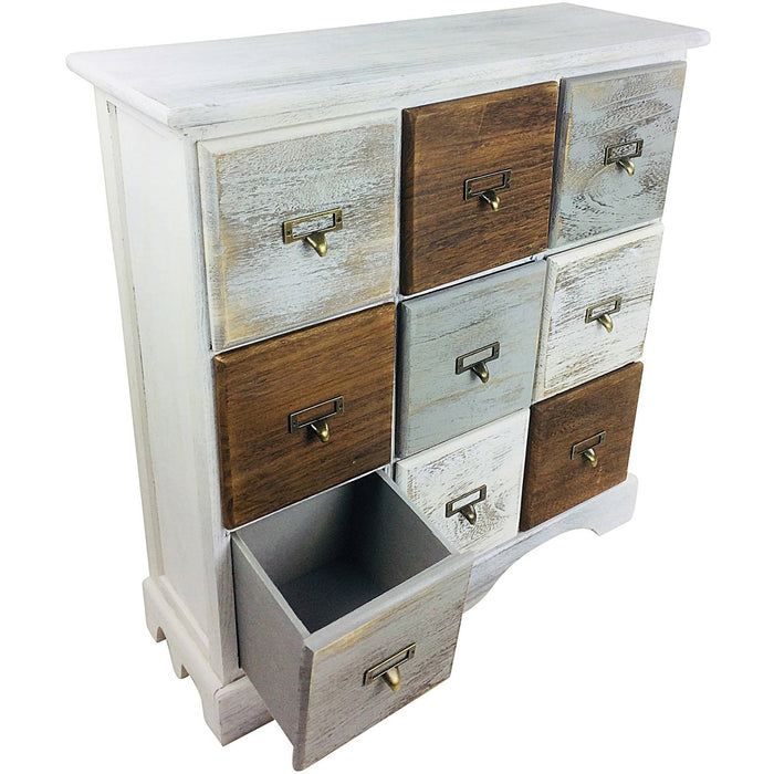 Wood Cabinet With 9 Drawers 64cm - Simply Utopia