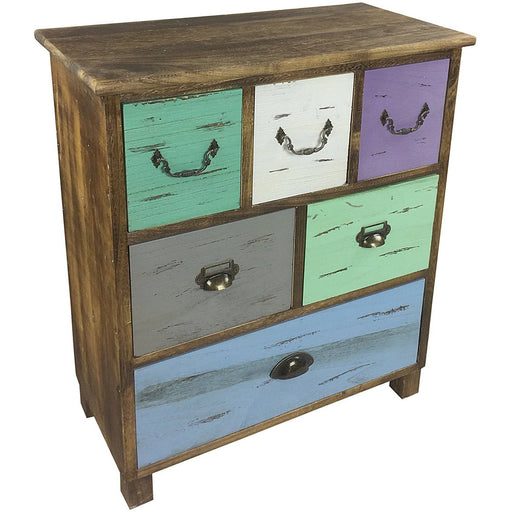 Wooden Storage Cabinet With 6 Drawers 69cm - Simply Utopia