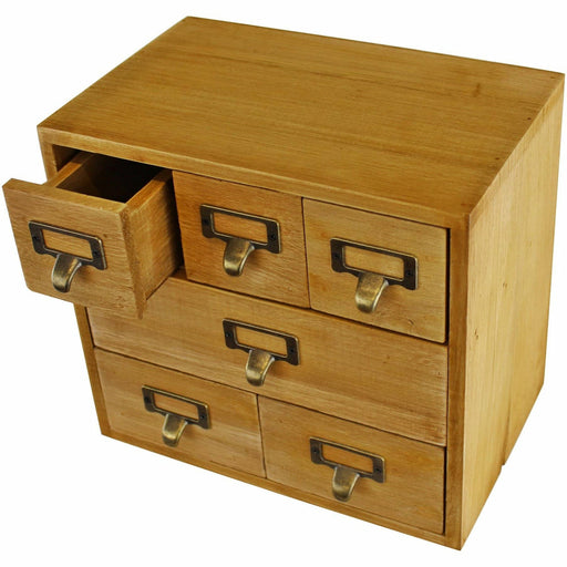 6 Drawer Storage Unit, Trinket Drawers - Simply Utopia