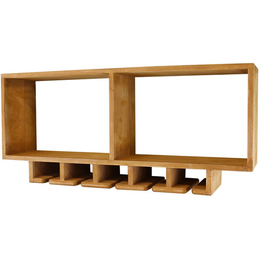 Kitchen Shelving Unit With Storage For Wine Glasses - Simply Utopia