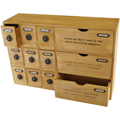 12 Drawer Rustic Storage Unit, Trinket Drawers - Simply Utopia
