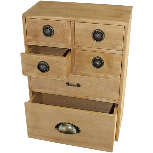 6 Drawer Storage Cabinet, Assorted  Size Drawers - Simply Utopia