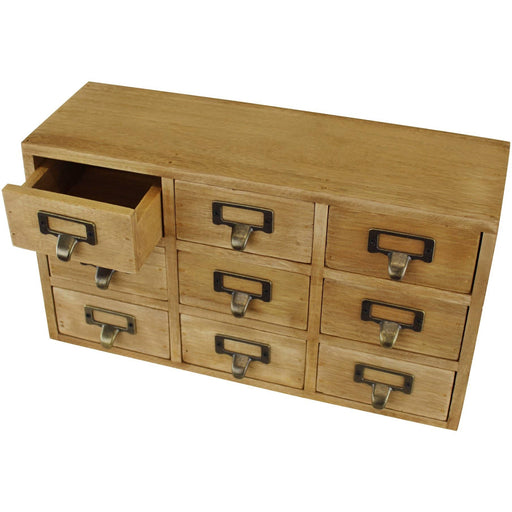 9 Drawer Triple Level Small Storage Unit, Trinket Drawers - Simply Utopia
