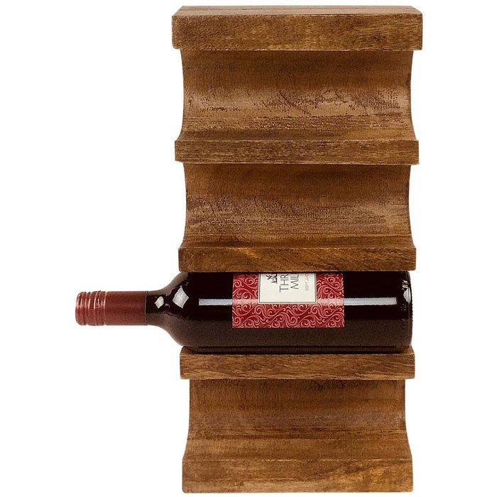Wall Mounted Wooden Wine Rack - Simply Utopia