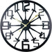 Black Metal Hammer Cut Out Wall Clock 40cm - Simply Utopia