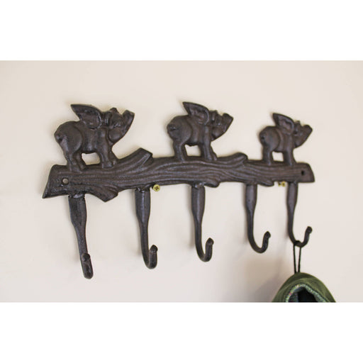Rustic Cast Iron Wall Hooks, Flying Pigs - Simply Utopia