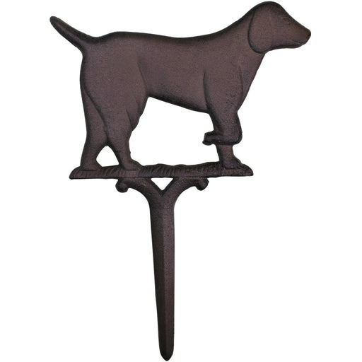 Rustic Cast Iron Garden Ornament, Dog - Simply Utopia