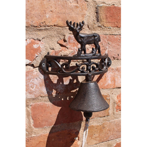 Rustic Cast Iron Wall Bell, Reindeer Standing - Simply Utopia