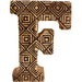 Hand Carved Wooden Geometric Letter F - Simply Utopia